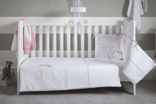 Cot Bed Set - Over The Moon Pink